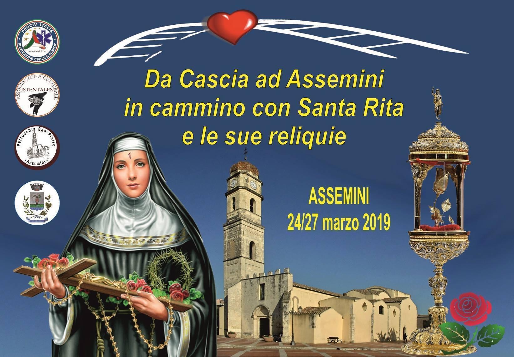 Santa Rita Giorno Calendario.Manifestazione Da Cascia Ad Assemini In Cammino Con Santa
